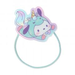 Japan Sanrio Acrylic Charm Hair Tie - Pochacco Unicorn Party
