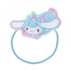 Japan Sanrio Acrylic Charm Hair Tie - Cinnamoroll Unicorn Party