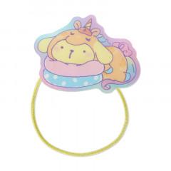Japan Sanrio Acrylic Charm Hair Tie - Pompompurin Unicorn Party