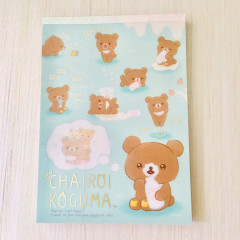 Japan Rilakkuma A6 Notepad - Chairoikoguma Milk