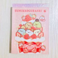 Japan Sumikko Gurashi B8 Mini Notepad - Strawberry