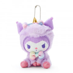Japan Sanrio Unicorn Party Keychain Plush - Kuromi