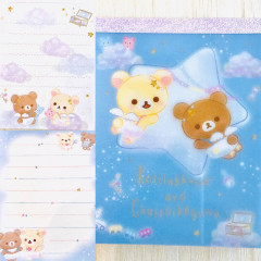 Japan San-X Rilakkuma B8 Mini Notepad - Korilakkuma Fluffy Angel