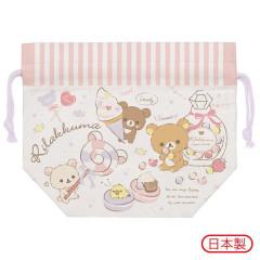 Japan San-X Drawstring Bag - Rilakkuma / Dessert Party