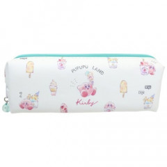 Japan Nintendo Zipper Makeup Stationery Pencil Bag Pouch - Kirby Ice Cream
