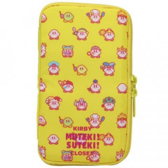 Japan Nintendo Zipper Multi-Case Flat Pen Pouch - Cosplay KIRBY MUTEKI! SUTEKI! CLOSET