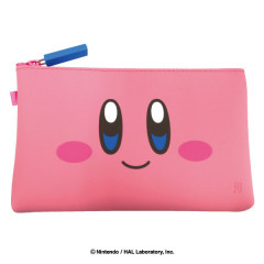 Japan Nintendo Zipper Makeup Stationery Pencil Bag Pouch - Kirby Face