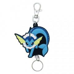 Japan Pokemon Rubber Reel Key Chain - Eevee Vaporeon