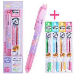 Japan Sanrio Hi-Tec-C Coleto 4-Color Multi Ball Pen - Little Twin Stars
