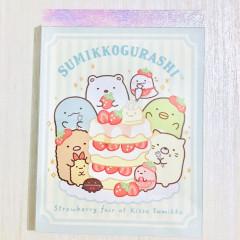 Japan Sumikko Gurashi B8 Mini Notepad - Strawberry Cake