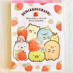 Japan Sumikko Gurashi A6 Notepad - Strawberry