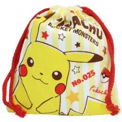 Japan Pokemon Drawstring Bag - Pikachu Yellow