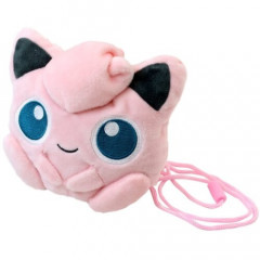 Japan Pokemon Plush Pouch - Jigglypuff Gamaguchi