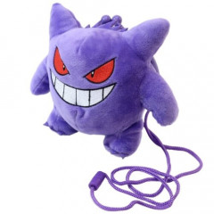 Japan Pokemon Plush Pouch - Gengar Gamaguchi