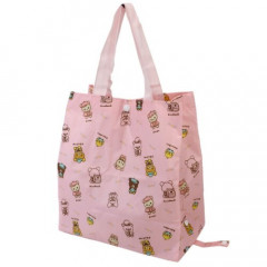 Japan Rilakkuma Eco Shopping Bag - Friends Pink
