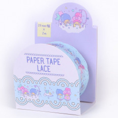 Japan Sanrio Lace Washi Paper Masking Tape - Little Twin Stars