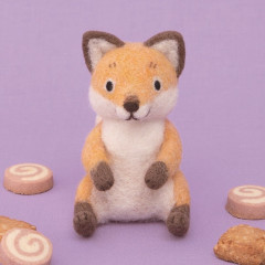 Japan Hamanaka Wool Needle Felting Kit - Fox