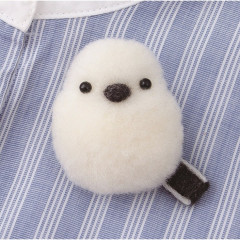 Japan Hamanaka Akurene Pom Pom Craft Kit - Shimaenaga Bird Brooch