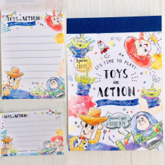 Japan Disney B8 Mini Notepad - Toy Story Party