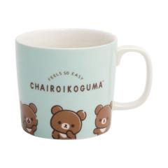 Japan San-X Rilakkuma Pottery Mug - Feel So Easy Chairoikoguma Green