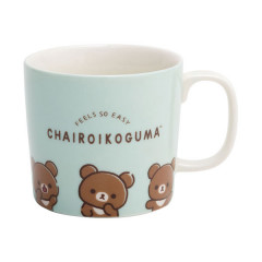 San-X Rilakkuma Pottery Mug - Feel So Easy Chairoikoguma Green