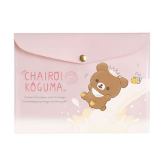 Japan San-X Rilakkuma Folder - Chairoikoguma Pink