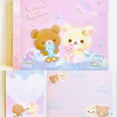 Japan San-X Rilakkuma B8 Mini Notepad - Korilakkuma Fluffy Angel Pink
