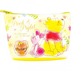 Japan Disney Triangular Mini Pouch - Precious Dream Pooh & Piglet