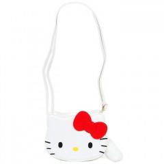 Japan Sanrio Fluffy Zipper Shoulder Bag - Hello Kitty