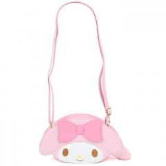 Japan Sanrio Fluffy Zipper Shoulder Bag - My Melody