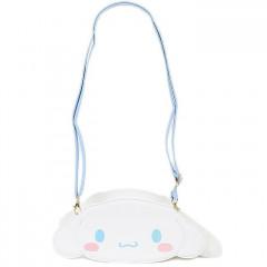 Japan Sanrio Fluffy Zipper Shoulder Bag - Cinnamoroll