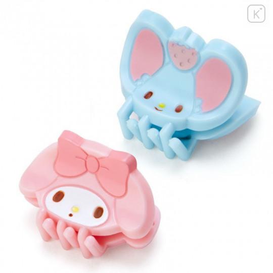 Japan Sanrio Mini Hair Clip 4pcs - My Melody - 2
