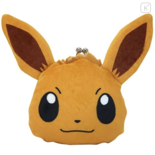 Japan Pokemon Coin Purse Wallet Plush - Eevee - 1