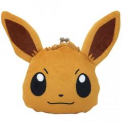 Japan Pokemon Coin Purse Wallet Plush - Eevee