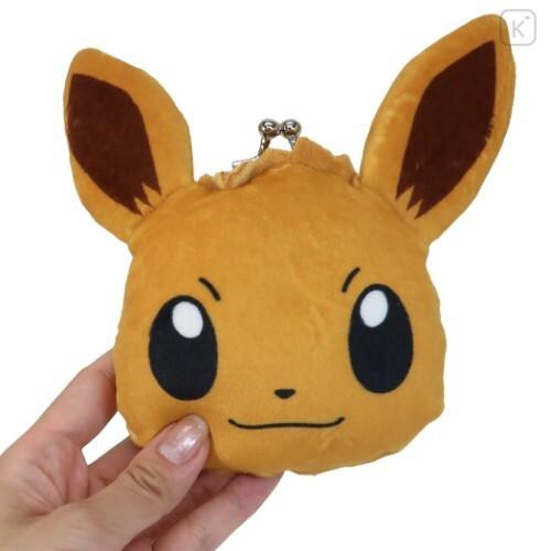 Japan Pokemon Coin Purse Wallet Plush - Eevee - 3