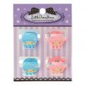 Japan Sanrio Mini Hair Clip 4pcs - Little Twin Stars - 1