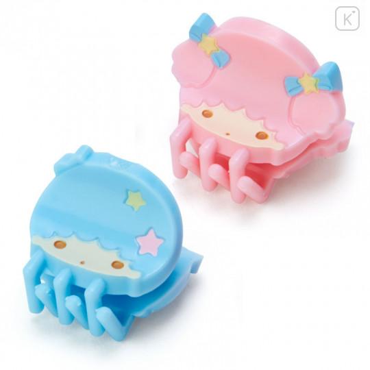Japan Sanrio Mini Hair Clip 4pcs - Little Twin Stars - 2
