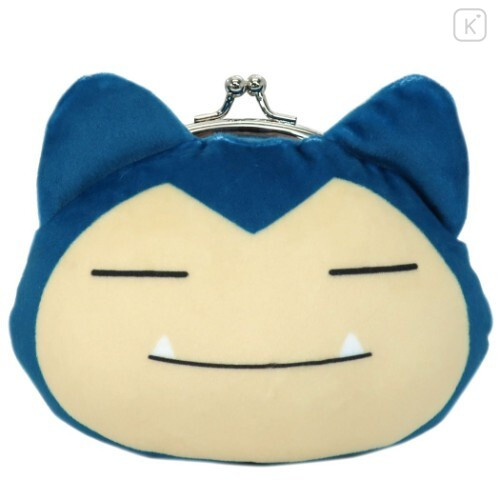 Japan Pokemon Coin Purse Wallet Plush - Snorlax - 1
