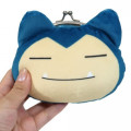 Japan Pokemon Coin Purse Wallet Plush - Snorlax - 3
