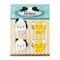 Japan Sanrio Mini Hair Clip 4pcs - Pochacco - 1