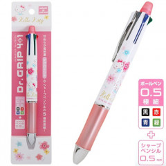 Japan Sanrio Dr. Grip 4+1 Color Ball Pen & Mechanical Pencil - Hello Kitty