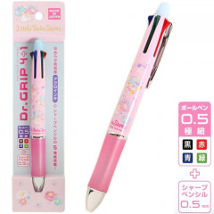 Japan Sanrio Dr. Grip 4+1 Color Ball Pen & Mechanical Pencil - Little Twin Stars