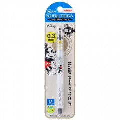 Japan Disney Uni Kuru Toga Auto Lead Rotation 0.3mm Mechanical Pencil - Mickey