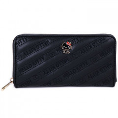 Japan Sanrio Plate Long Wallet - Hello Kitty