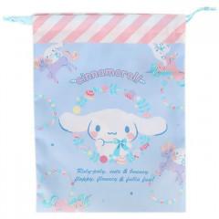 Japan Sanrio Drawstring Bag (M) - Cinnamoroll & Unicorn