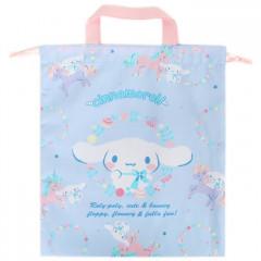 Japan Sanrio Drawstring Bag with Handle - Cinnamoroll & Unicorn