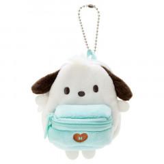 Japan Sanrio Mini Backpack Mascot Keychain - Pochacco