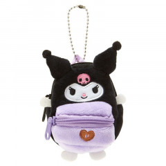 Japan Sanrio Mini Backpack Mascot Keychain - Kuromi