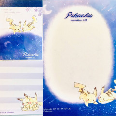 Japan Pokemon B8 Mini Notepad - Pikachu Star Night