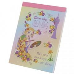 Japan Disney B8 Mini Notepad - Rapunzel Never Stop Dreaming